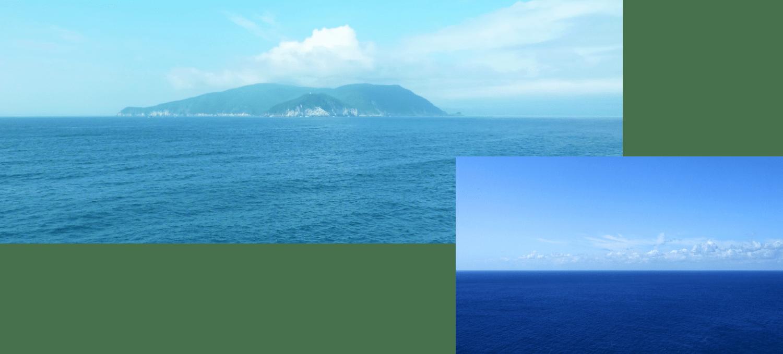 船上から見える景色